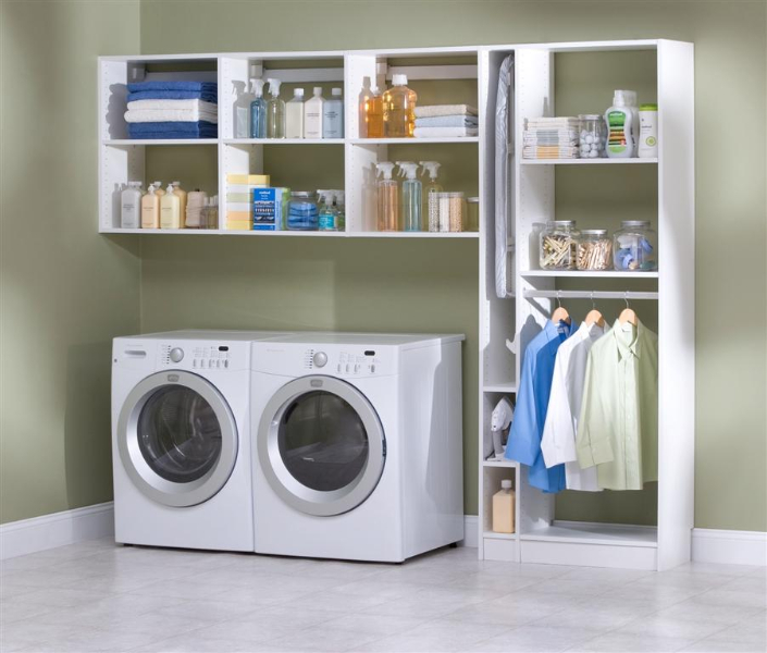 laundry room storage, laundry organization, laundry room shelving a Laundry Room